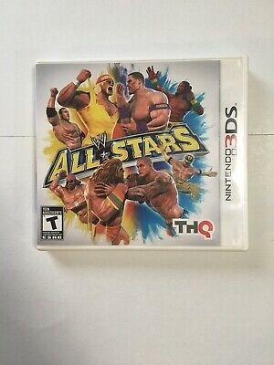 wwe all star nintendo 3ds Game Cartride Manual Box