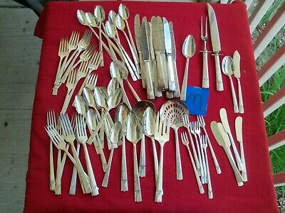 Silver Plate Flatware Oneida Nobility Seafood Ice Teaspoon Serving & Carving Set