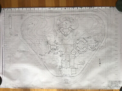 Disneyland WED Site Blueprint From June 30, 1955