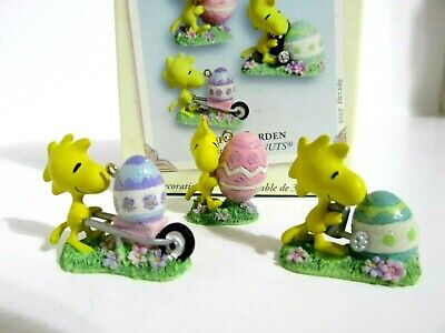 Snoopy Peanuts Hallmark Christmas Easter Ornament Mini Woodstock Figure 2005