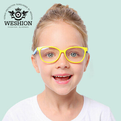 Square Blue Light Kids Glasses Optical Frame 2018 Children Boy Girls Computer