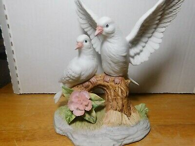 Bird~Vintage Wellington Collection Two Doves on Flowered Branch