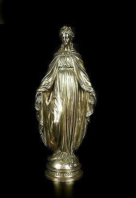 Jean Bulio Immaculée Conception & le serpent Virgin Maria bronze Sculpture c1890