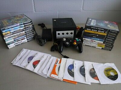 Nintendo Gamecube Console and Game Lot of 38