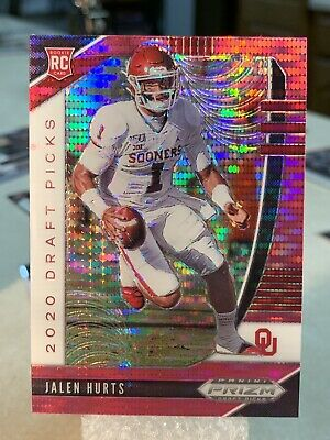 2020 Prizm Draft Picks 🔥JALEN HURTS RC🔥 pink Pulsar Prizm 💎💎💎📈