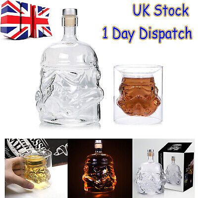 △UK Stock Hot Sale Star Wars Stormtrooper Glass Decanter Whisky Sherry Liquer
