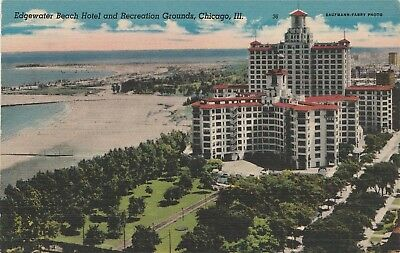 Edgewater Beach Hotel, Chicago Illinois Postcard *Estate*