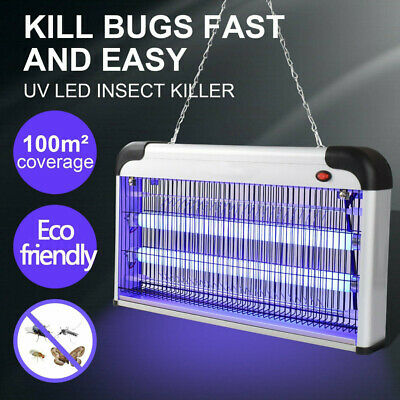 20W Electric Shock Fly Insect Bug Pest Mosquito Killer Zapper CatcherLamp Indoor