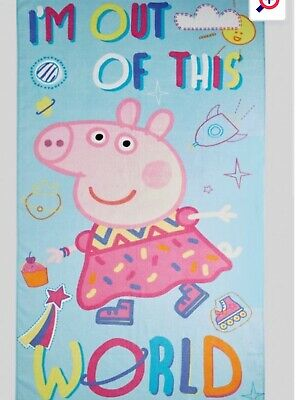 Bnwt Peppa Pig Children's Towel Ideal For Bath, Beach And Swimming