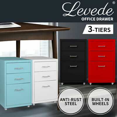 Filing Cabinet Storage Cabinets Folders File Steel Office Organiser 3 Drawers