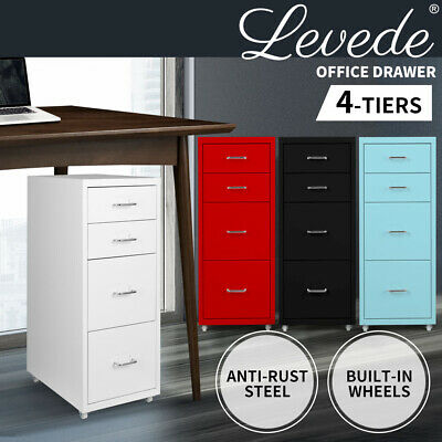 Filing Cabinet Storage Cabinets Folders File Steel Office Organiser 4 Drawers