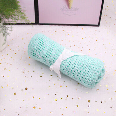 1PC Baby Boys And Girls Soft Cellular Blanket Cotton Pram Cot Basket Crib Wrap