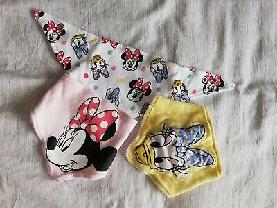 Disney Baby Girls Minnie Mouse Feeding Bibs Dribble 3 Pack