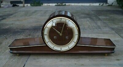 Retro URGOS 1950's  modernist mantel clock , SEE VIDEO.