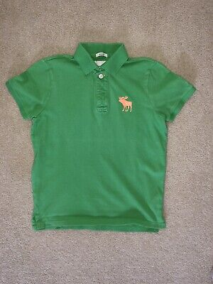 Green Polo Abercrombie Polo top T-Shirt Boys XL Age 14-16