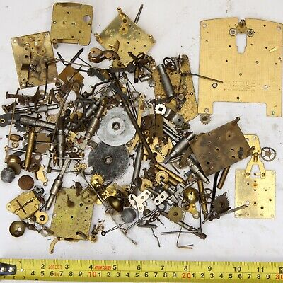 1.1kg Job lot of vintage clock spares parts cogs gears wheels - steampunk craft