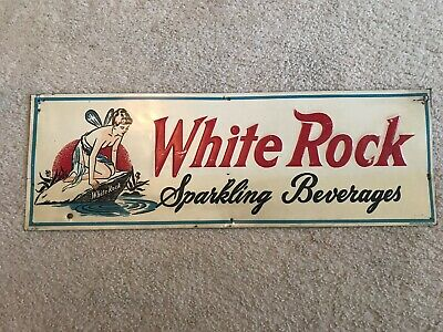 White Rock Beverages Vintage Stout Embossed Tin Sign