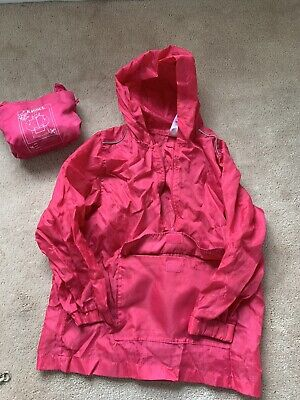Girls Kagoul Waterproof Raincoat Size Small And Medium Back To School X2