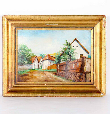 Adolphe (Adolf) Fenyes Original Oil of a Fenced Town - Well-Listed Artist