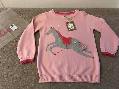Joules Meryl Pink Unicorn Jumper, Age 5 - Brand New With Tag
