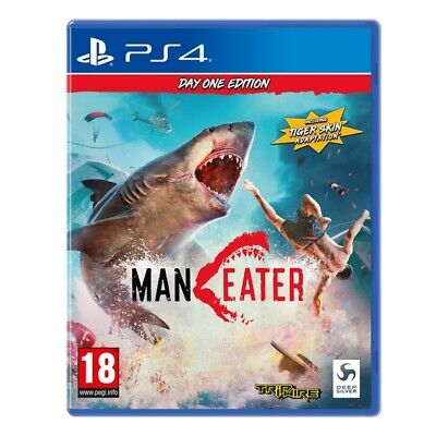 """Playstation 4 (PS4) Maneater 'Day 1 Edition' 