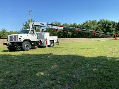 1998 Chevrolet Kodiak Knuckle Boom Crane Wireless Remote    Only 36K Miles !!