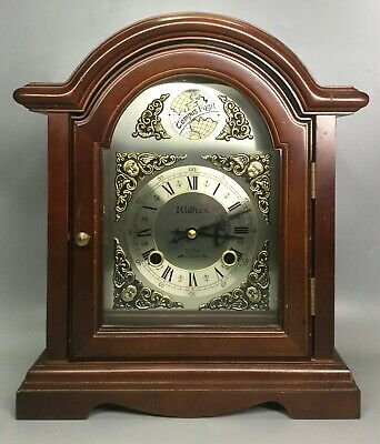 Waltham 31 Day Time and Chime Wooden Mantel Clock - Korea