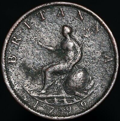 1799 | George III Half-Penny | Copper | Coins | KM Coins