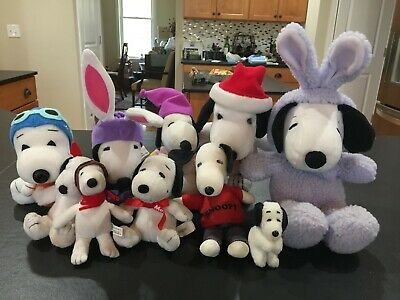 Snoopy Peanuts Lot (10 Plushes) Easter / Halloween / Christmas / MetLife
