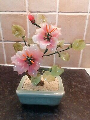 Ornamental Japenese / Oriental Glass Bonsai Tree