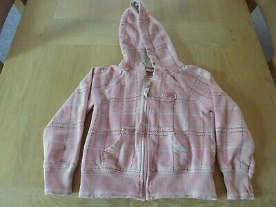 Next Pink Check Girls Hoodie Age 6