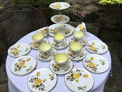 Vintage China Tea Set  - Yellow Roses