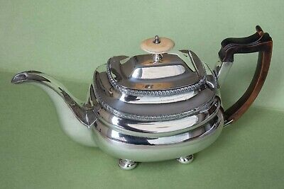 Silver teapot in elegant classic style