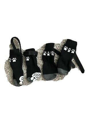 Anti Slip Dog Socks for Hardwood Floors, Pet Paw Protectors with Grips (m-size)