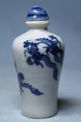 Collectable Decoration Porcelain Painting Dragon Precious Elegant Snuff Bottles