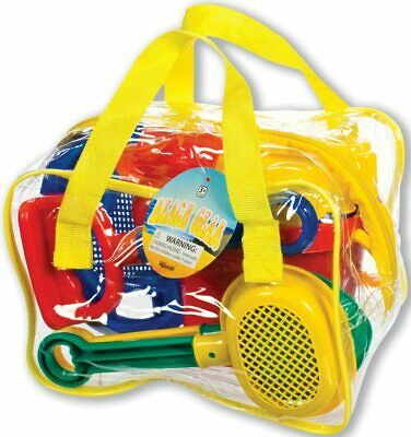 Toysmith Sand Box Castle Play Deluxe Beach Set with Shovel, Bucket, Sifter,