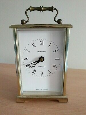 Vintage Metamec Quartz Carriage Clock Made In England (2015207) Battery Operated