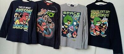 Next Angry Birds Bundle X 4 Age 9 Years Long Sleeved Tops/Jumper Vgc Free P&P