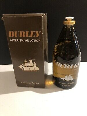 New Vintage Shulton Old Spice Burley AFTER SHAVE LOTION With Box FULL 9.5 oz