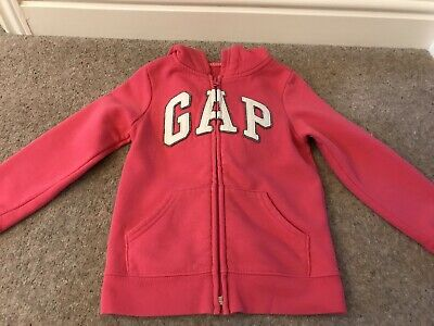 Gap Girls Pink Hoody, Age 5 - Good Condition