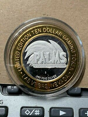 Limited Edition  $10 Gaming Token 99.9 Fine  Silver