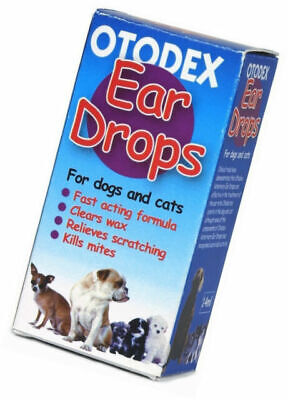 ***Bulk buy 12 packs*** Otodex Veterinary Ear Drops 14ml for Pets *£4.50 per pk*