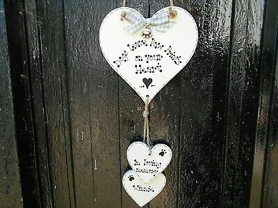 🐾 New Personalised Pet Dog memorial sign, gift, Pet loss gift / plaque/ heart🐾