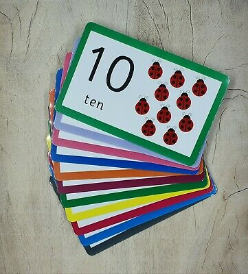 Tell The Time Mini Laminated Matching Flashcards Homeschooling EYFS Montessori