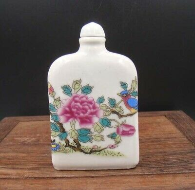 Collectible 100% Handmade Painting Porcelain Snuff Bottles 022