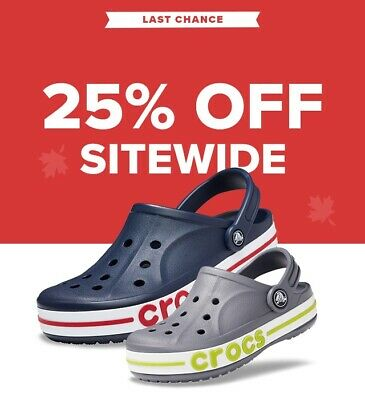 CROCS.COM Coupon 25% OFF online purchases Expires 6/30/2020