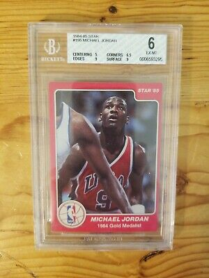 1984-85 Star Michael Jordan Rookie BGS 6 #195