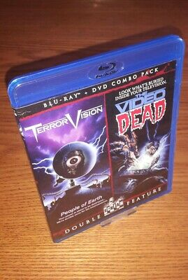 TERRORVISION/VIDEO DEAD Blu-ray US import rare OOP Shout/Scream Factory region a