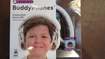 Guardian Kids Age 3+ Ear Protection Earmuffs Noise Cancelling White NEW