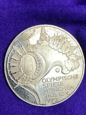 1972 Munich Silver Olympic Proof coin